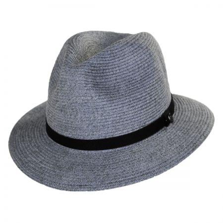 Jaxon Hats Ramie Hemp Straw Blend Safari Fedora Hat