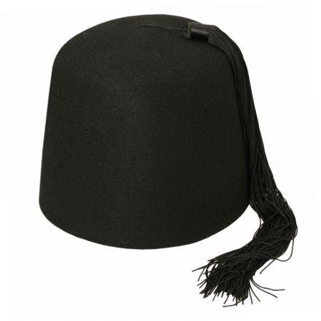 Black Wool Fez with Black Tassel alternate view 5
