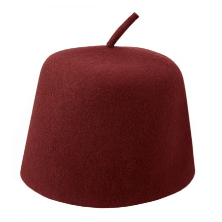 Maroon Fez with Stem alternate view 5