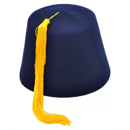 Navy Blue Fez with Gold Tassel alternate view 9