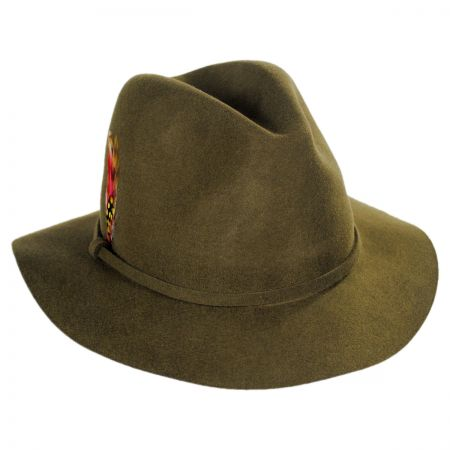 Scala Wool Safari Fedora Hat