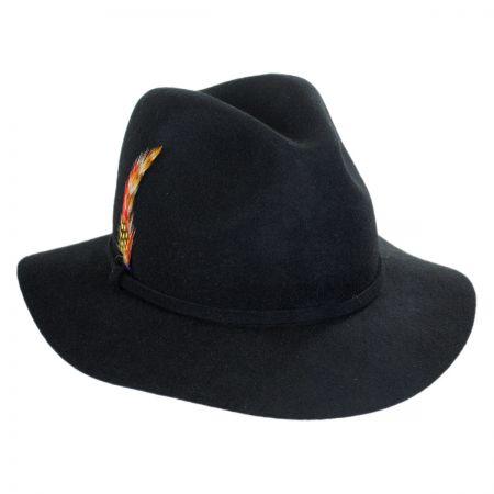Scala Wool Felt Safari Fedora Hat