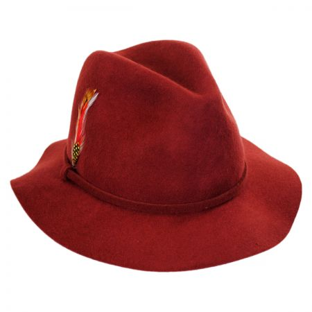 Scala Wool Felt Safari Fedora Hat