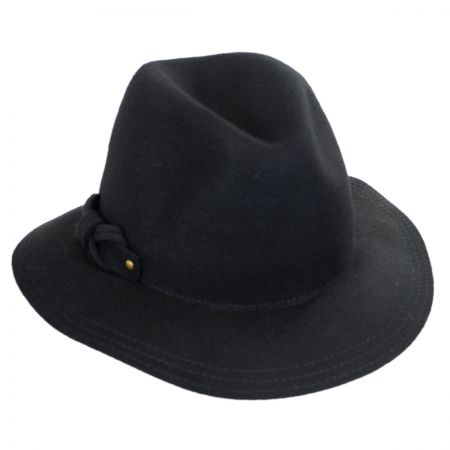 Scala Safari Loop Bow Fedora Hat