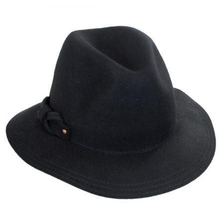 Scala Safari Loop Bow Fedora Hat