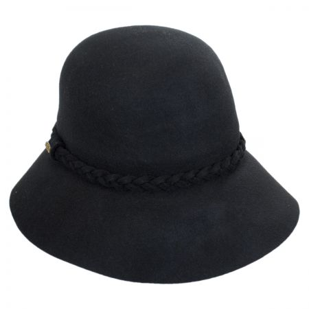 Scala Braided Band Floppy Cloche Hat