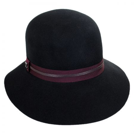 Scala Wax Cord Floppy Cloche Hat