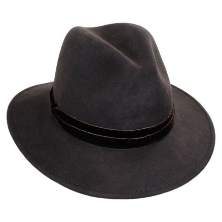 Scala Velvet Band Safari Fedora Hat