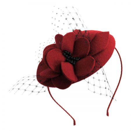 Scala Felt Flowers Fascinator Headband