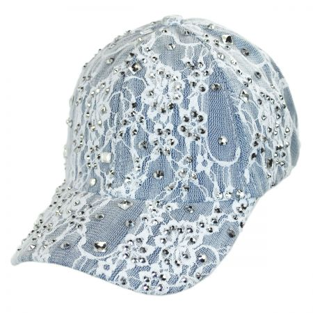 Something Special Lace and Denim Strapback Baseball Cap