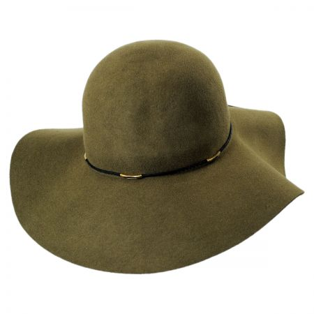 Wax Cord Wool Felt Floppy Hat alternate view 1