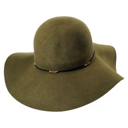 Scala Wax Cord Wool Felt Floppy Hat