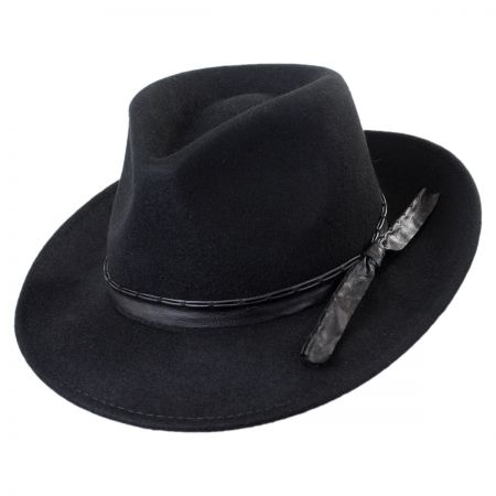Callanan Pleather Trim Safari Fedora Hat