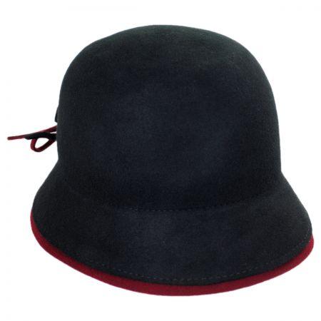 Callanan Two-Tone Cloche Hat