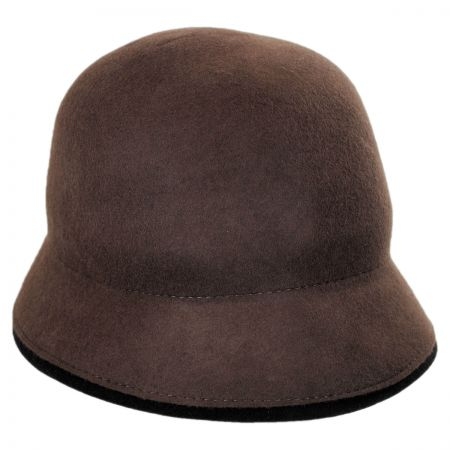 Callanan Two-Tone Cloche Hat