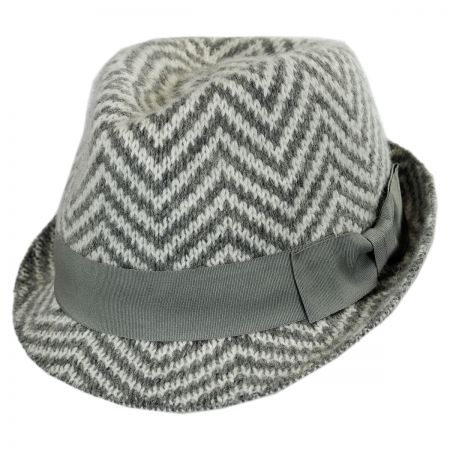 Scala Chevron Angora Felt Fedora Hat