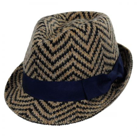 Scala Chevron Fedora Hat