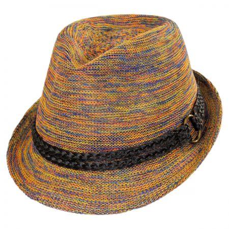 Scala Prismatic Fedora Hat
