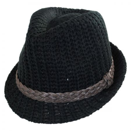 Scala Knit Fedora Hat