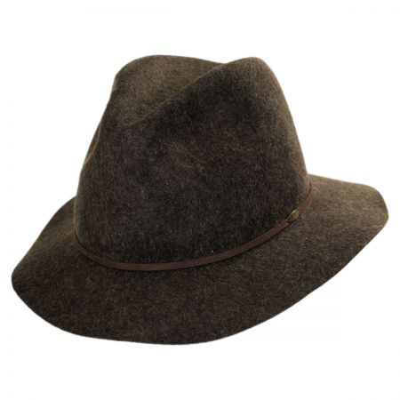 Scala Raw Edge Safari Fedora Hat