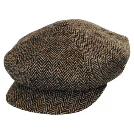 City Sport Caps Herringbone Donegal Tweed Wool Baker Boy Cap