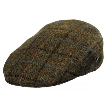 City Sport Caps Khaki Plaid Wool Ivy Cap