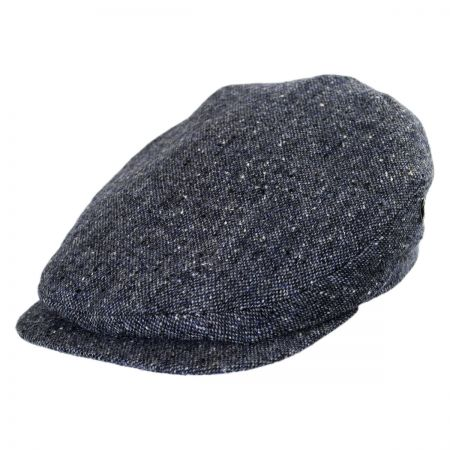 City Sport Caps Donegal Tweed Marl Tweed Ivy Cap (Navy/Denim)