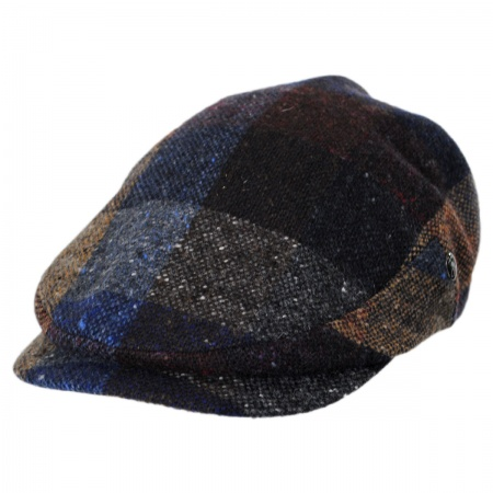 City Sport Caps Donegal Tweed Marl Tweed Patchwork Ivy Cap