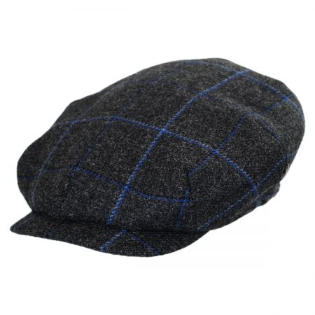 City Sport Caps 50 Pence Plaid Newsboy Cap (Charcoal)