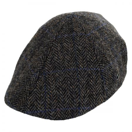City Sport Caps Harris Tweed Plaid Duckbill Ivy Cap (Taupe/Black)