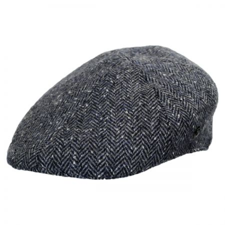 City Sport Caps Donegal Tweed Herringbone Duckbill Ivy Cap (Navy/Gray)
