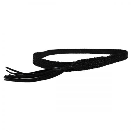 David Morgan 10 Plait Leather Hatband
