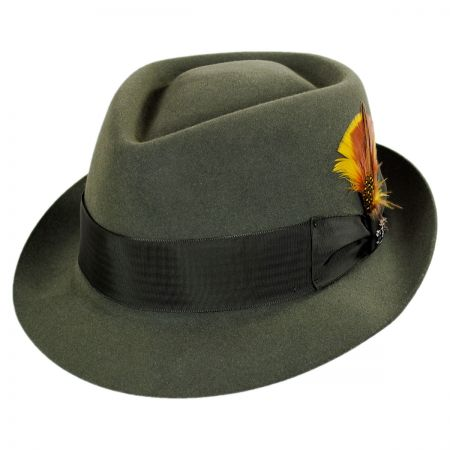 Biltmore Village Fur Felt Diamond Crown Fedora Hat