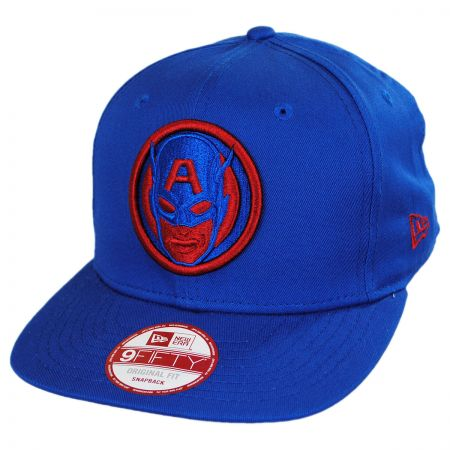 New Era Marvel Captain America 9Fifty Cabesa Snapback Baseball Cap