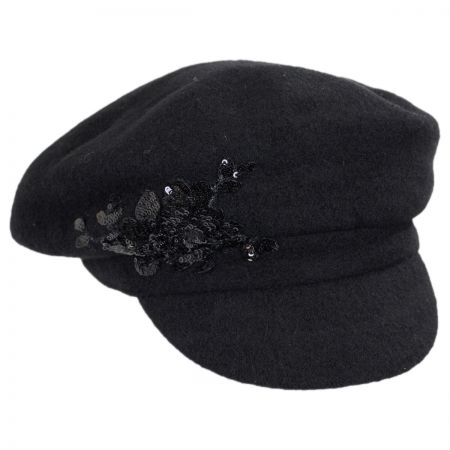 Scala Lambswool Newsboy Cap