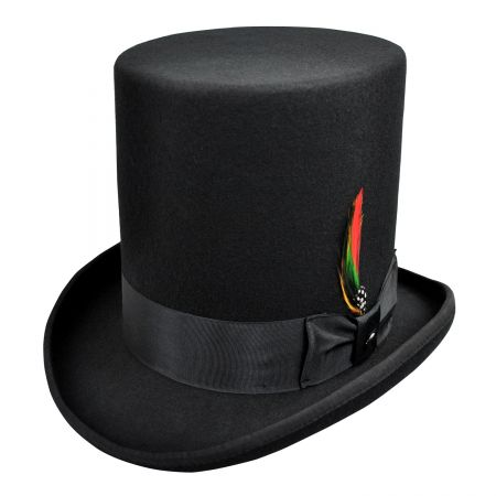 Jaxon Hats Stovepipe Wool Felt Top Hat