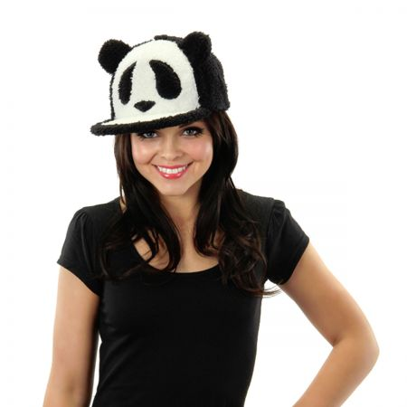 Panda Fuzzy Adjustable Baseball Cap