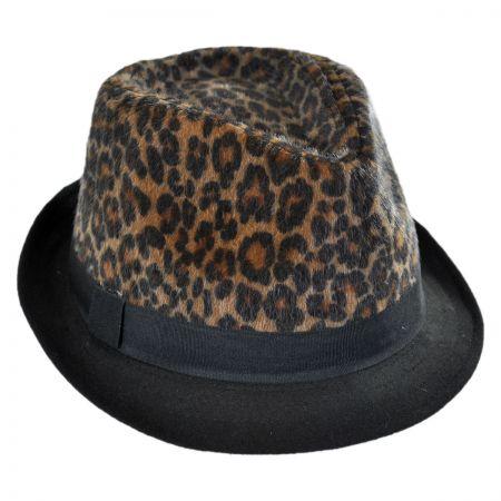 Scala Leopard Crown Fedora Hat