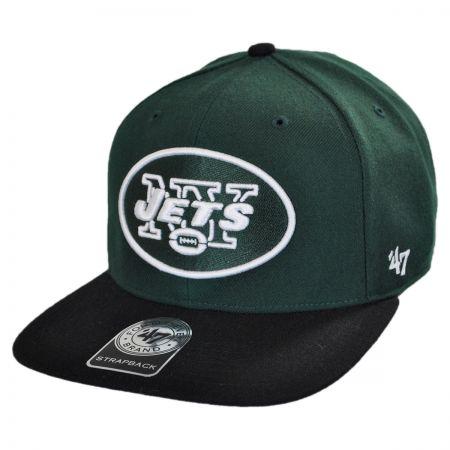 New York Jets NFL Sure Shot Strapback Baseball Cap Dad Hat