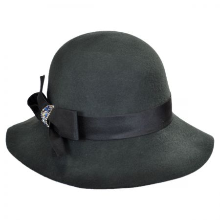 Callanan Hats Crystal Bow Floppy Cloche Hat
