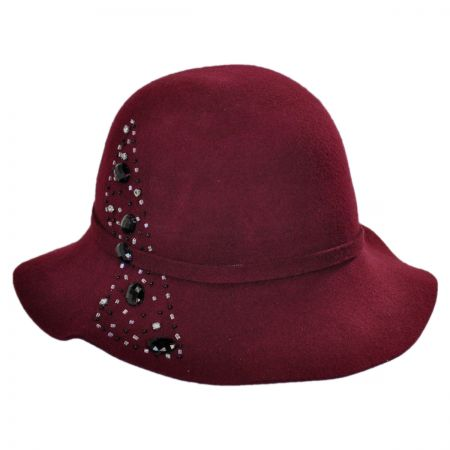 Callanan Hats Gem Spray Floppy Cloche Hat