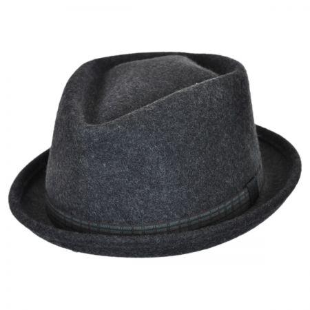 Brooklyn Hat Co Danny Wool Felt Diamond Crown Fedora Hat