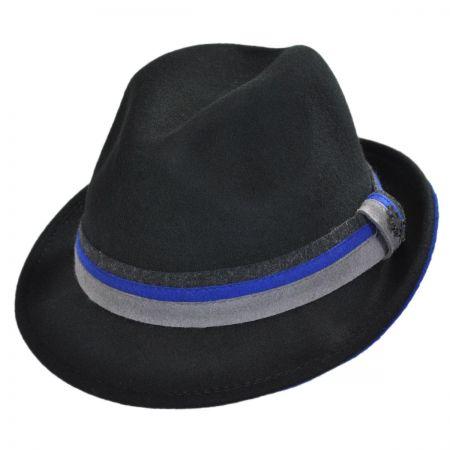 Stacy Adams Three Tone Band Wool Felt Fedora Hat
