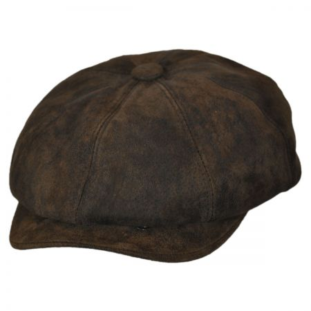 Rustic Leather Newsboy Cap alternate view 5