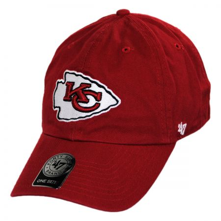 47 Brand Kansas City Chiefs NFL Clean Up Strapback Baseball Cap