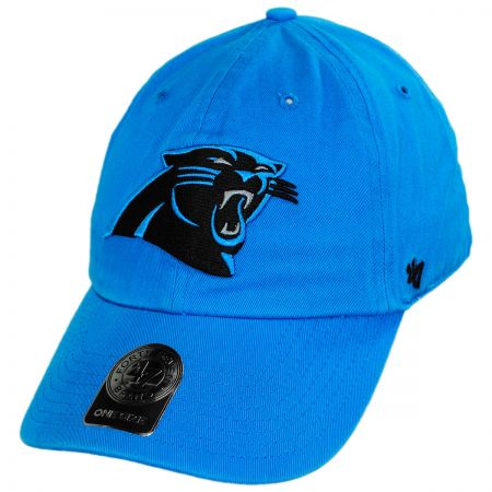 Carolina Panthers NFL Clean Up Strapback Baseball Cap Dad Hat alternate view 5