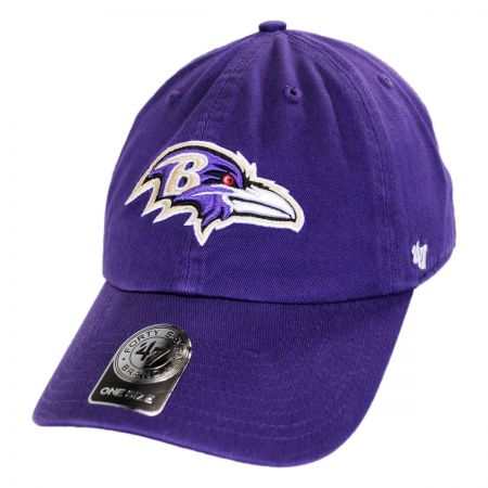 47 Brand Baltimore Ravens NFL Clean Up Strapback Baseball Cap Dad Hat