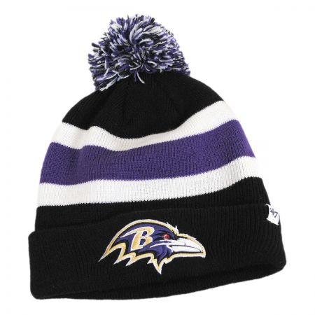Baltimore Ravens NFL Breakaway Knit Beanie Hat alternate view 1