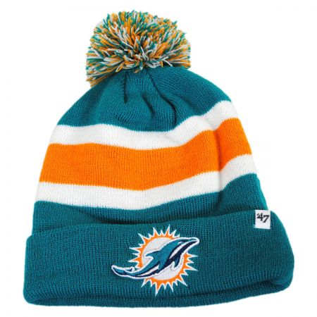 Miami Dolphins NFL Breakaway Knit Beanie Hat alternate view 1