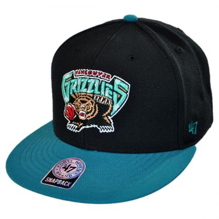 47 Brand Vancouver Grizzlies NBA Sure Shot Snapback Baseball Cap